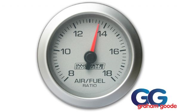 Innovate G2 AFR Air Fuel Ration Gauge Only Silver/White INN3803